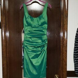 Green iridescent dress